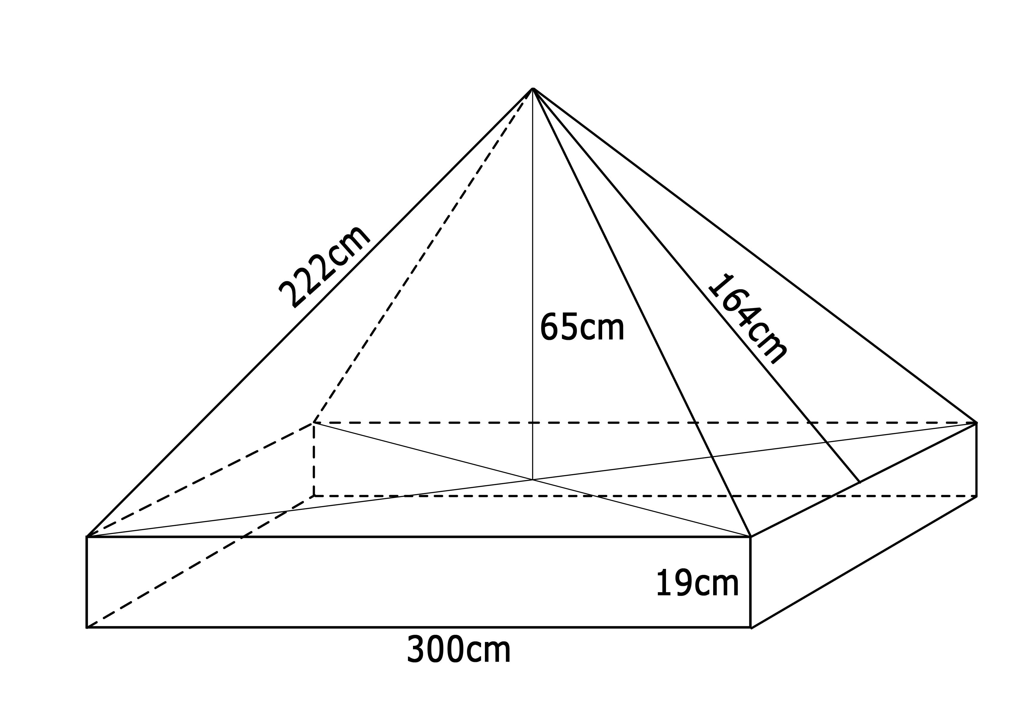 Universal-Ersatzdach für Pavillon 3x3 Meter, blau