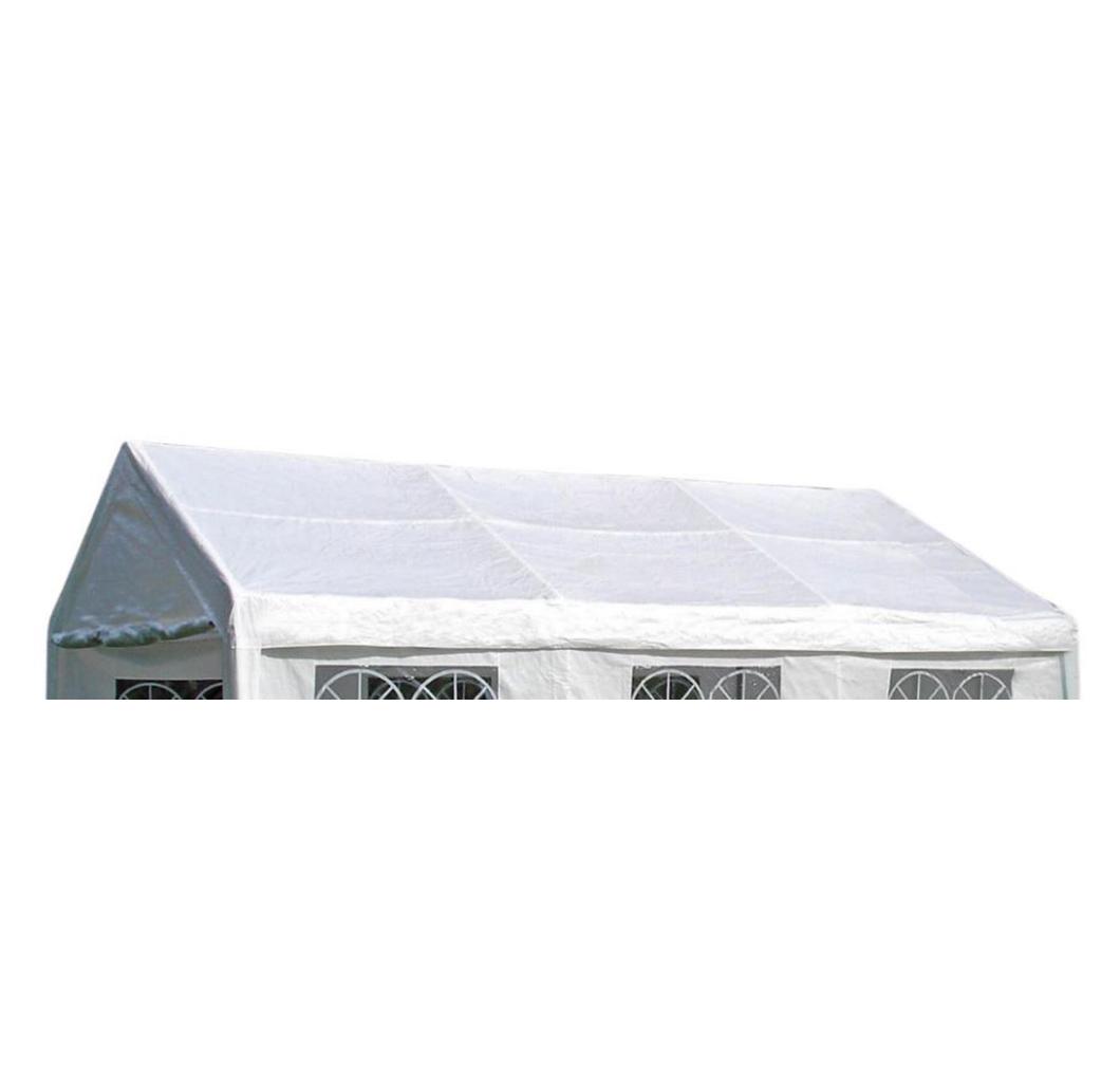 Dachplane PALMA für Zelt 4x6 Meter, PVC weiss incl. Spanngummis