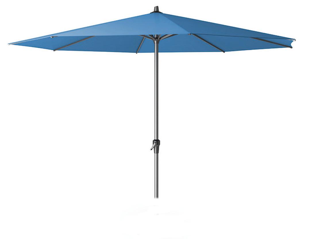 Sonnenschirm AVIO 350cm rund, Gestell Aluminium, Bezug 100% Polyester blau, 8kg