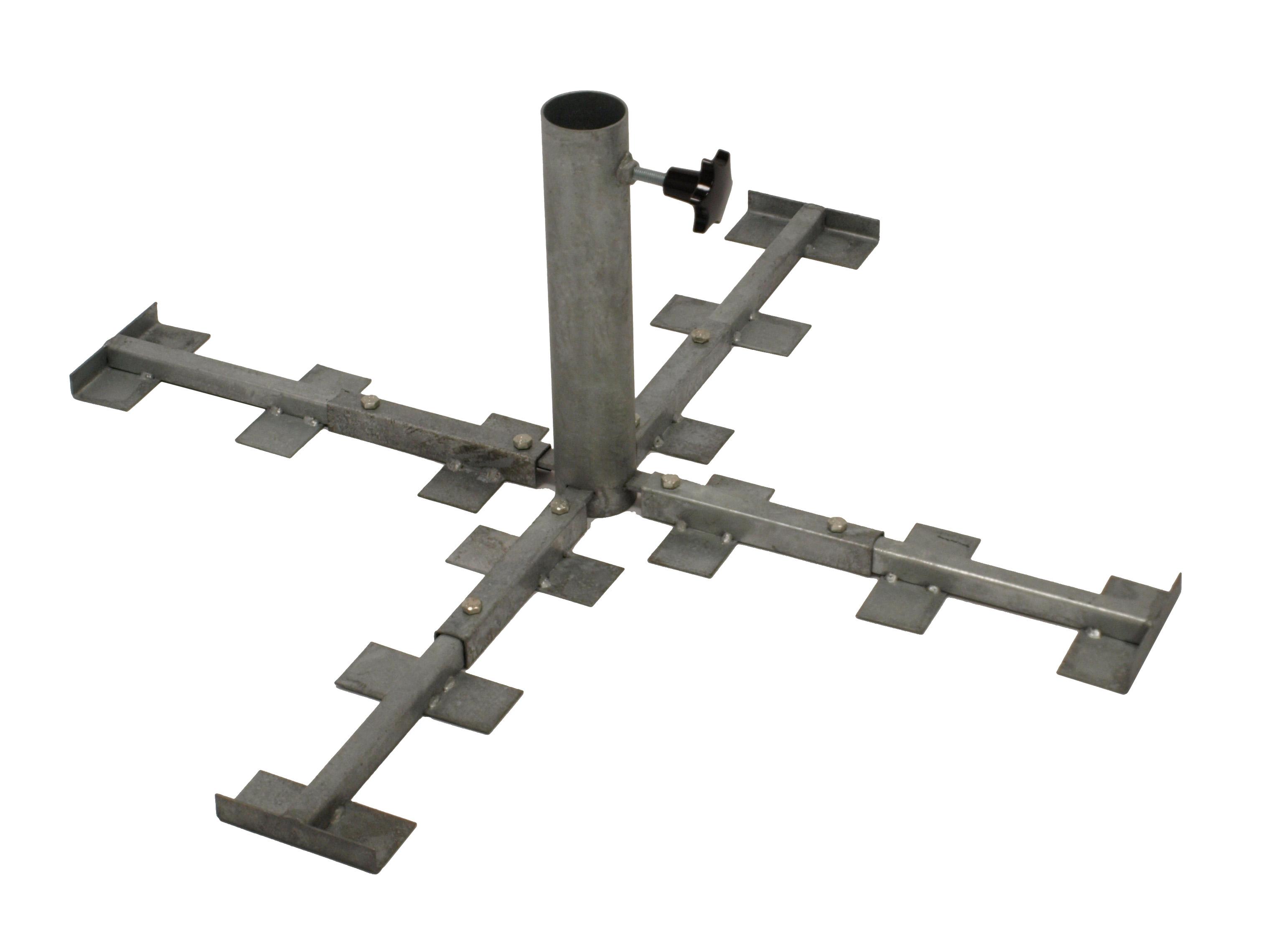 Schirmständer für Betonplatten, Metall verzinkt