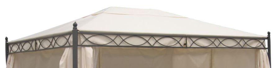 Ersatzdach für Pavillon RIVOLI 3x4 Meter, PVC beschichtet ecru