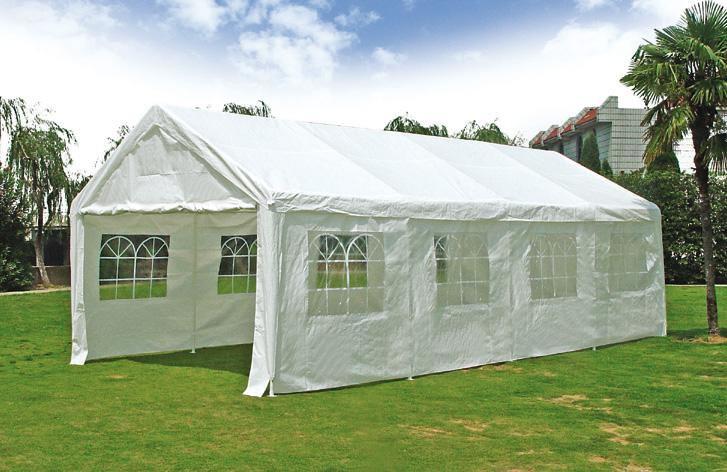 Party - Zelt PALMA 4x8 Meter, PE weiss