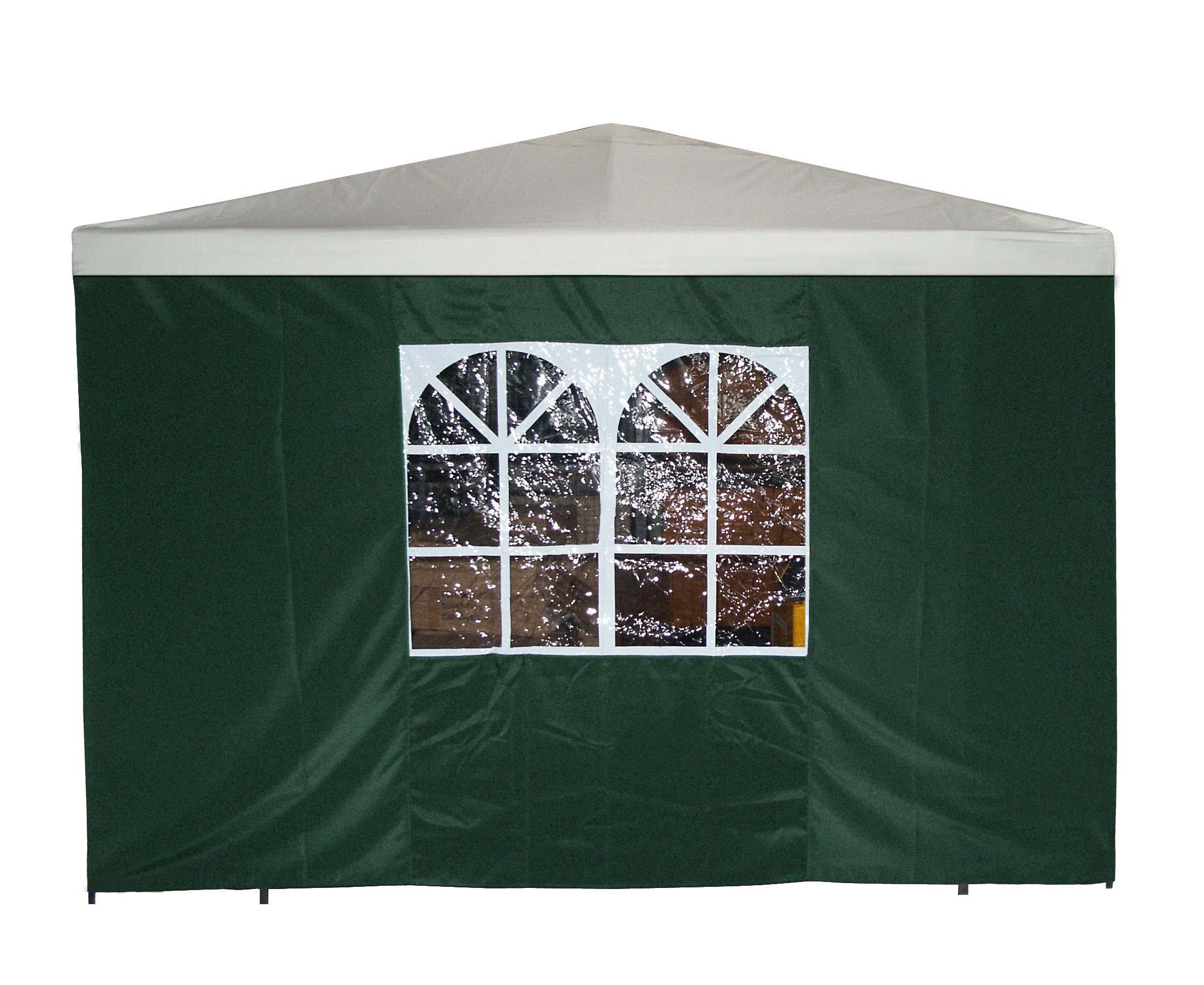 Seitenplane für Pavillon, 3x1,9 Meter, Polyester grün mit Fenster