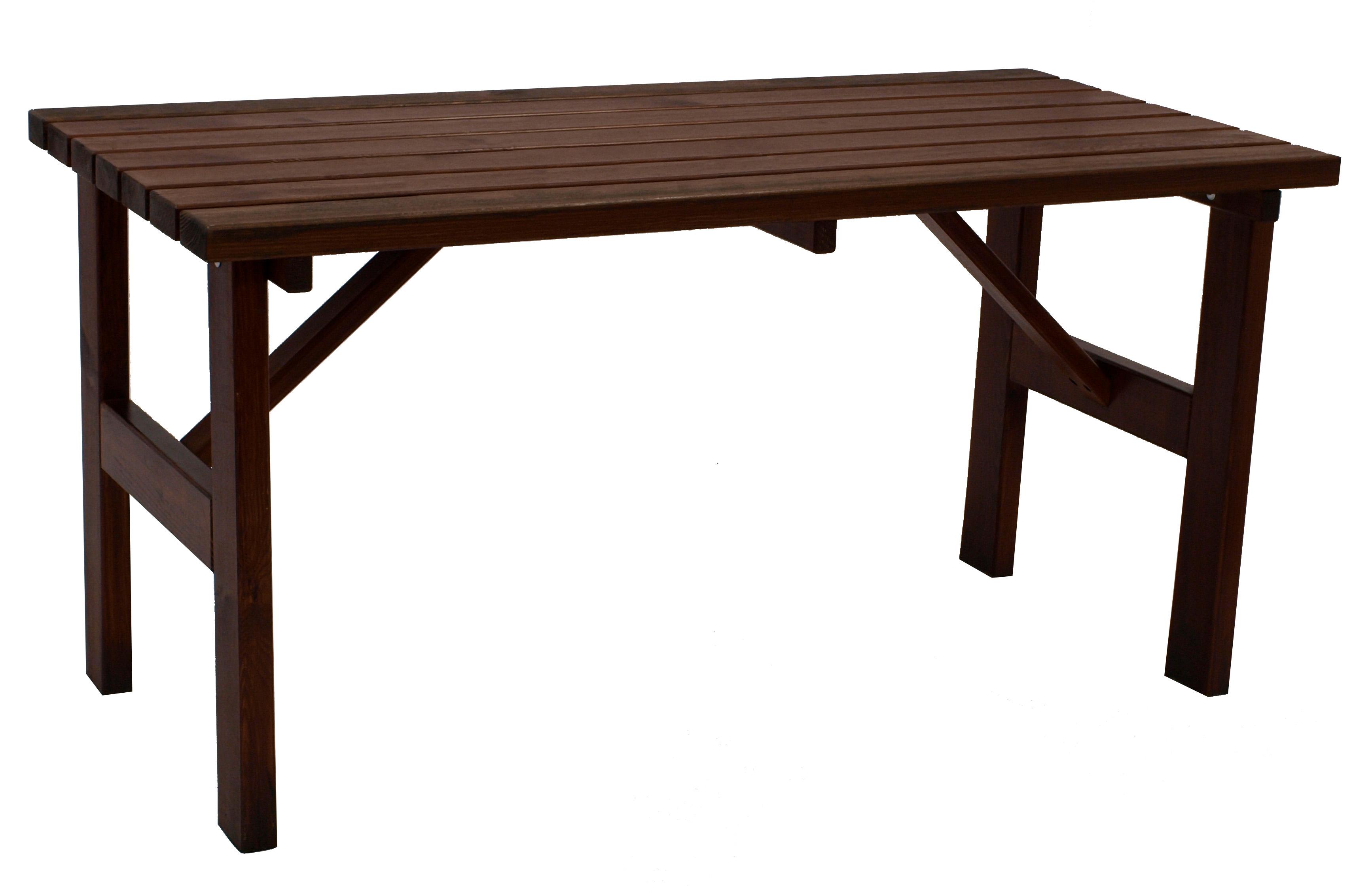 Tisch TESSIN  73x150cm, Kiefer dunkelbraun lackiert