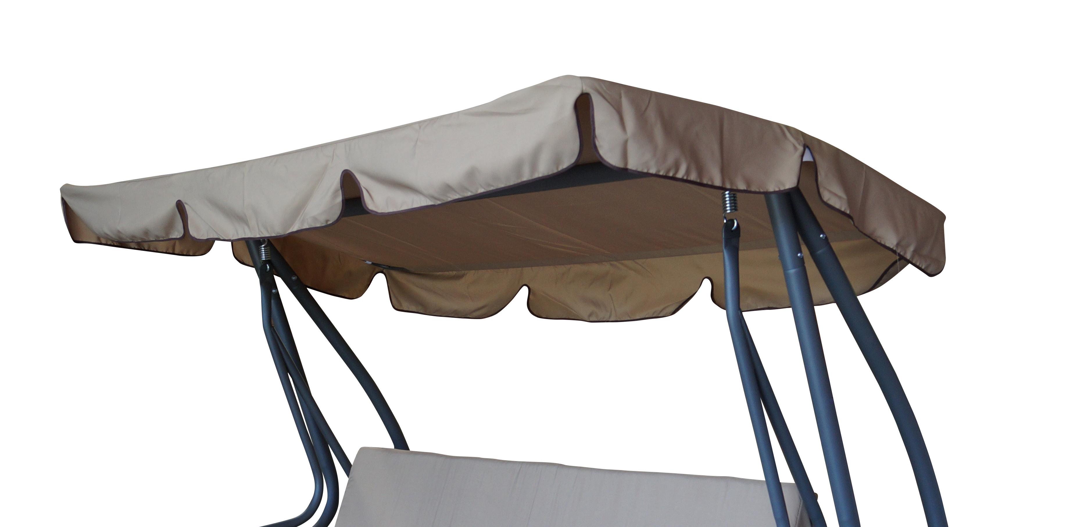 Dachplane für Hollywoodschaukel 200x120cm, cremefarben