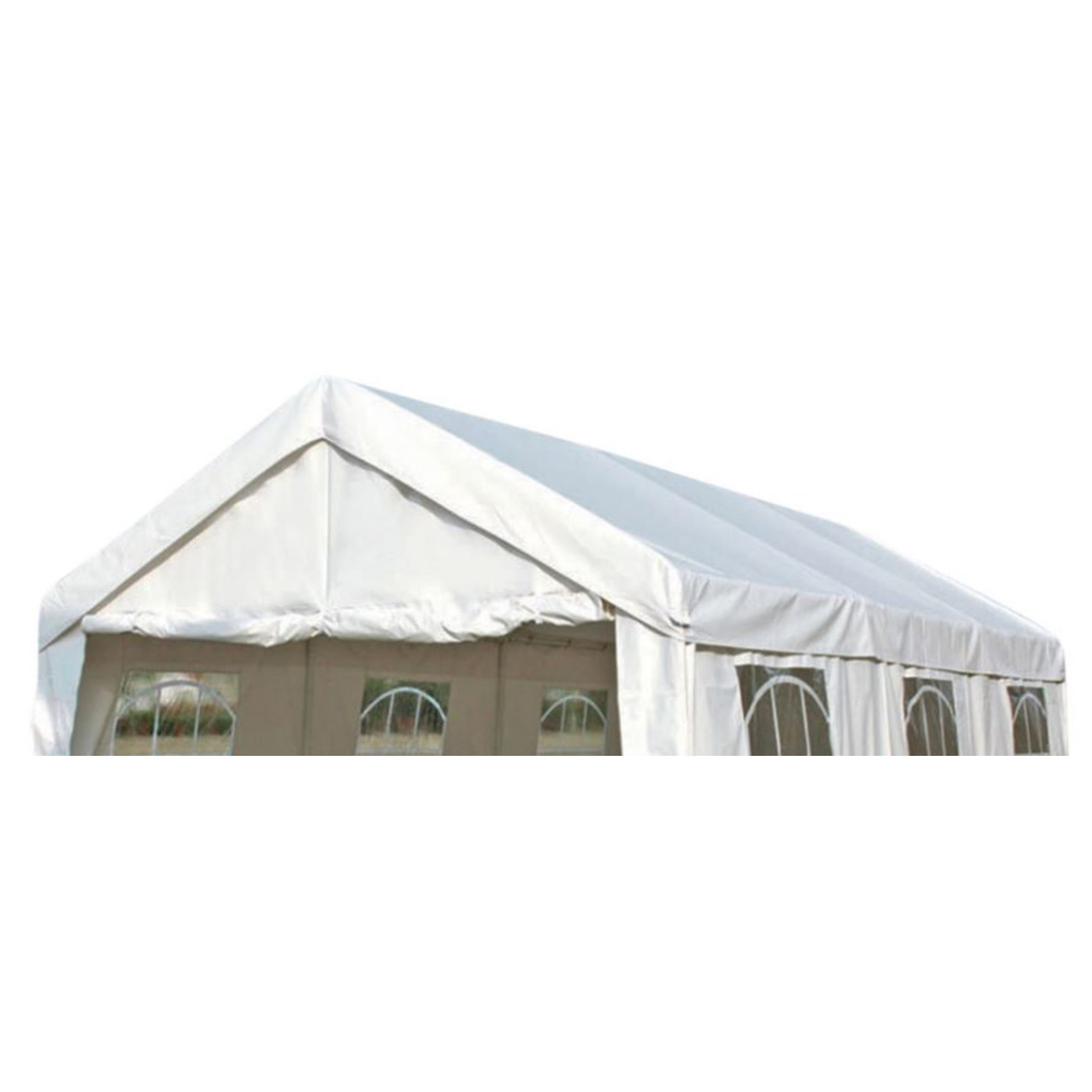 Dachplane PALMA für Zelt 3x6 Meter, PE weiss incl. Spanngummis