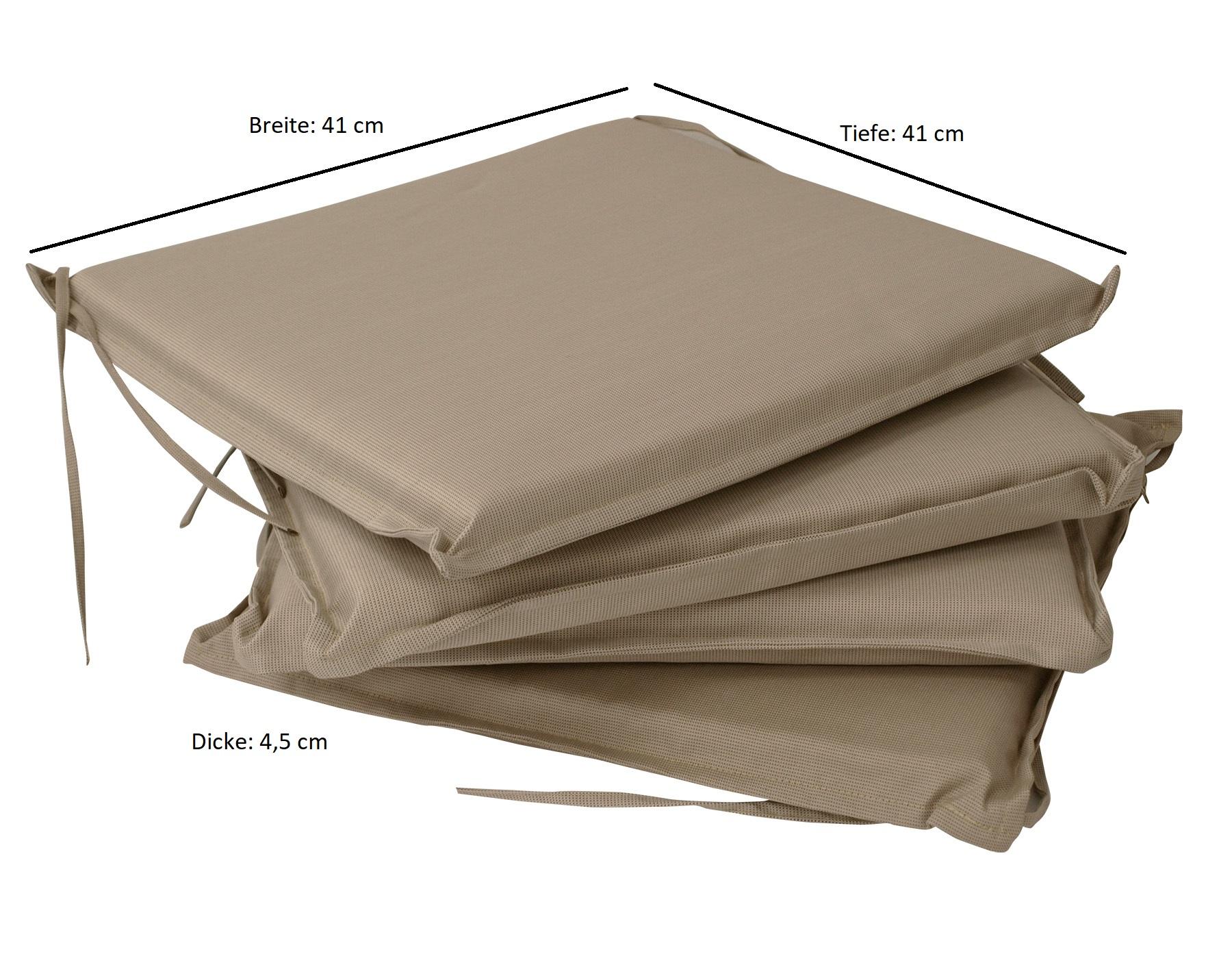Sitzkissen MALLAWI, beige, 4 Stück