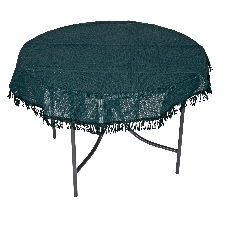 Tischdecke aus Kunststoff 160cm rund, grün, wetterfest