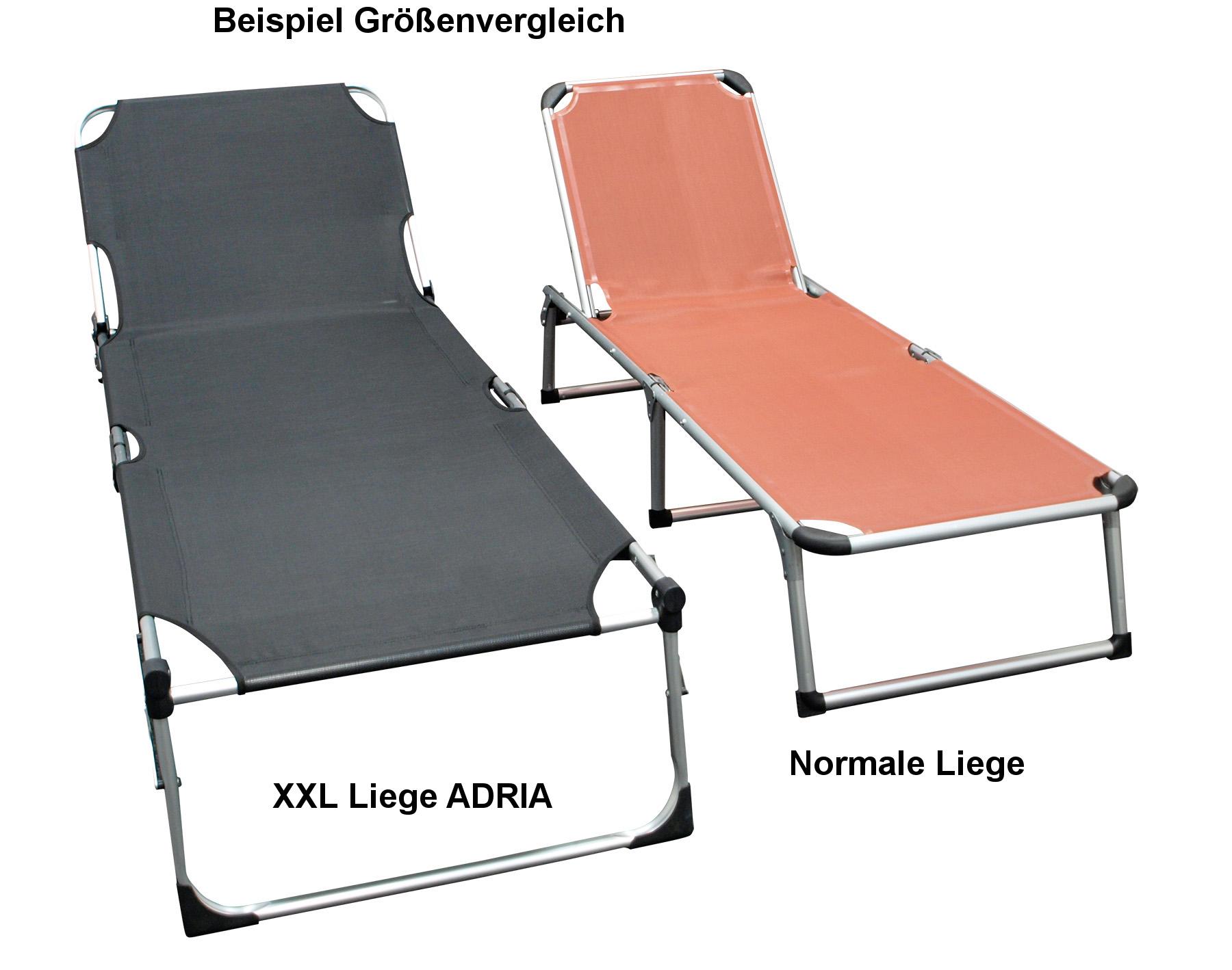 Klappliege ADRIA XXL, Aluminium + Textilgewebe schwarz