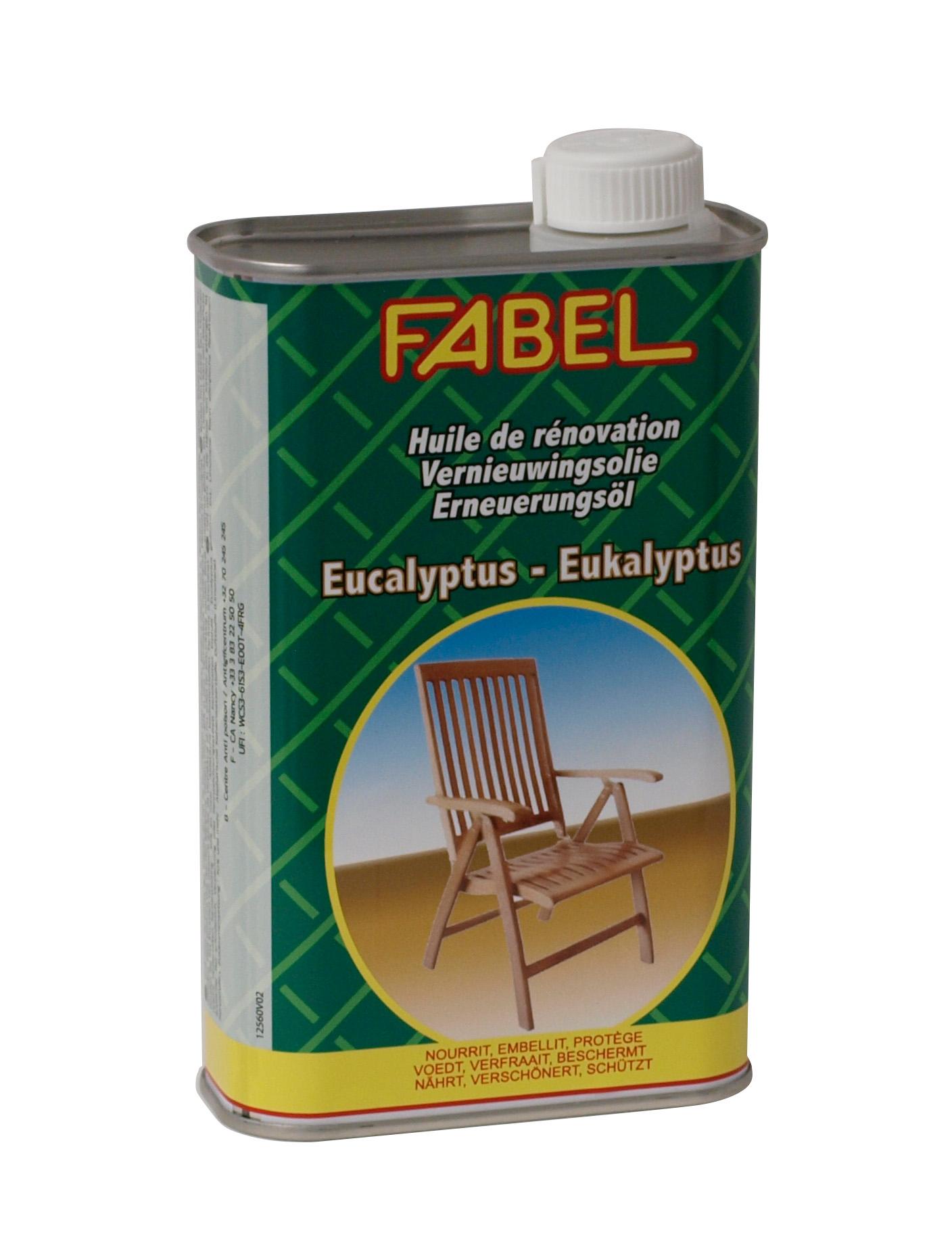 Spezial-Pflegeöl für Gartenmöbel aus Eukalyptusholz von FABEL, 500ml