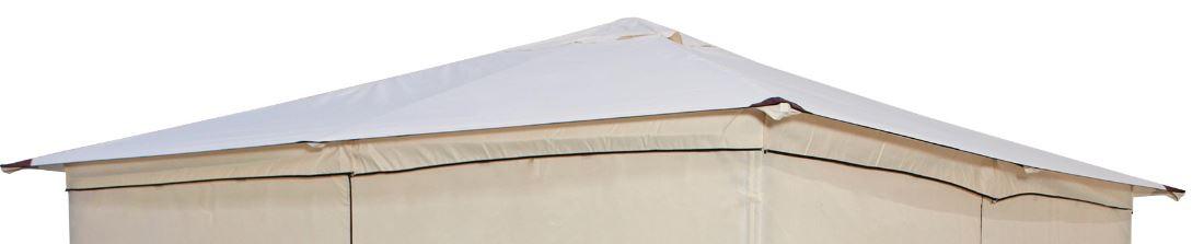 Ersatzdach für Pavillon VENEZIA, Polyester PVC-beschichtet écru