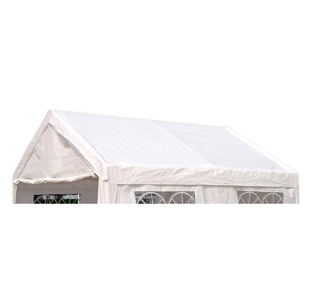 Dachplane PALMA für Zelt 4x4 Meter, PVC weiss incl. Spanngummis