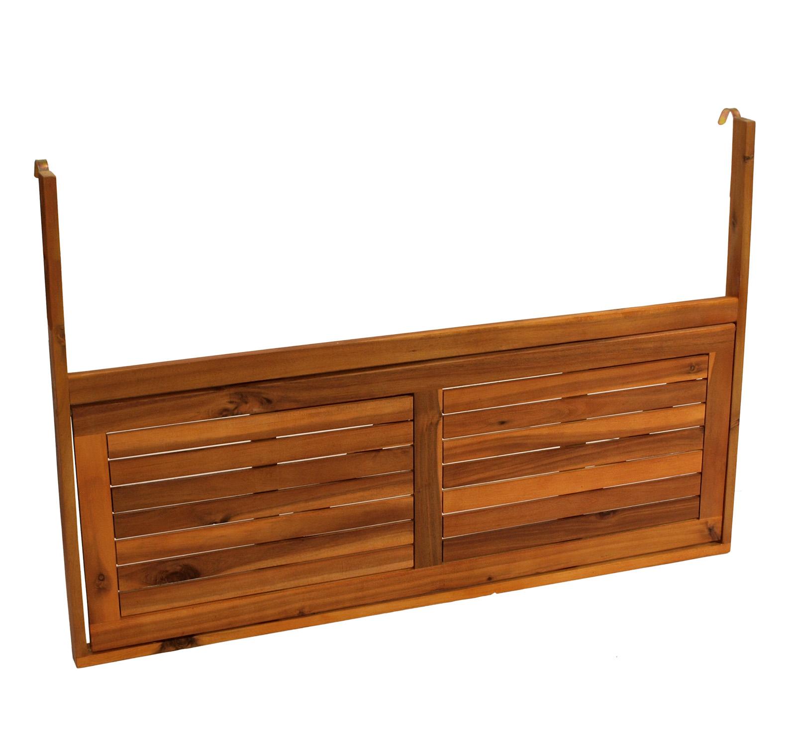 Balkonhängetisch 120x40cm, Akazienholz geölt,  FSC®-zertifiziert