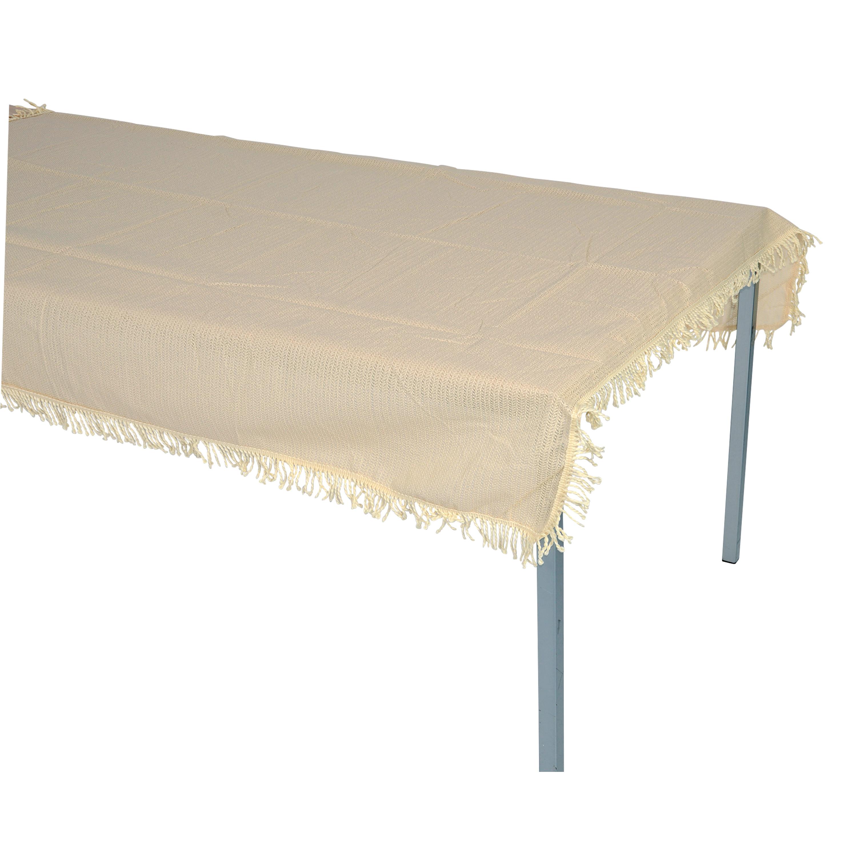 Tischdecke aus Kunststoff 140x220cm rechteckig, beige, wetterfest