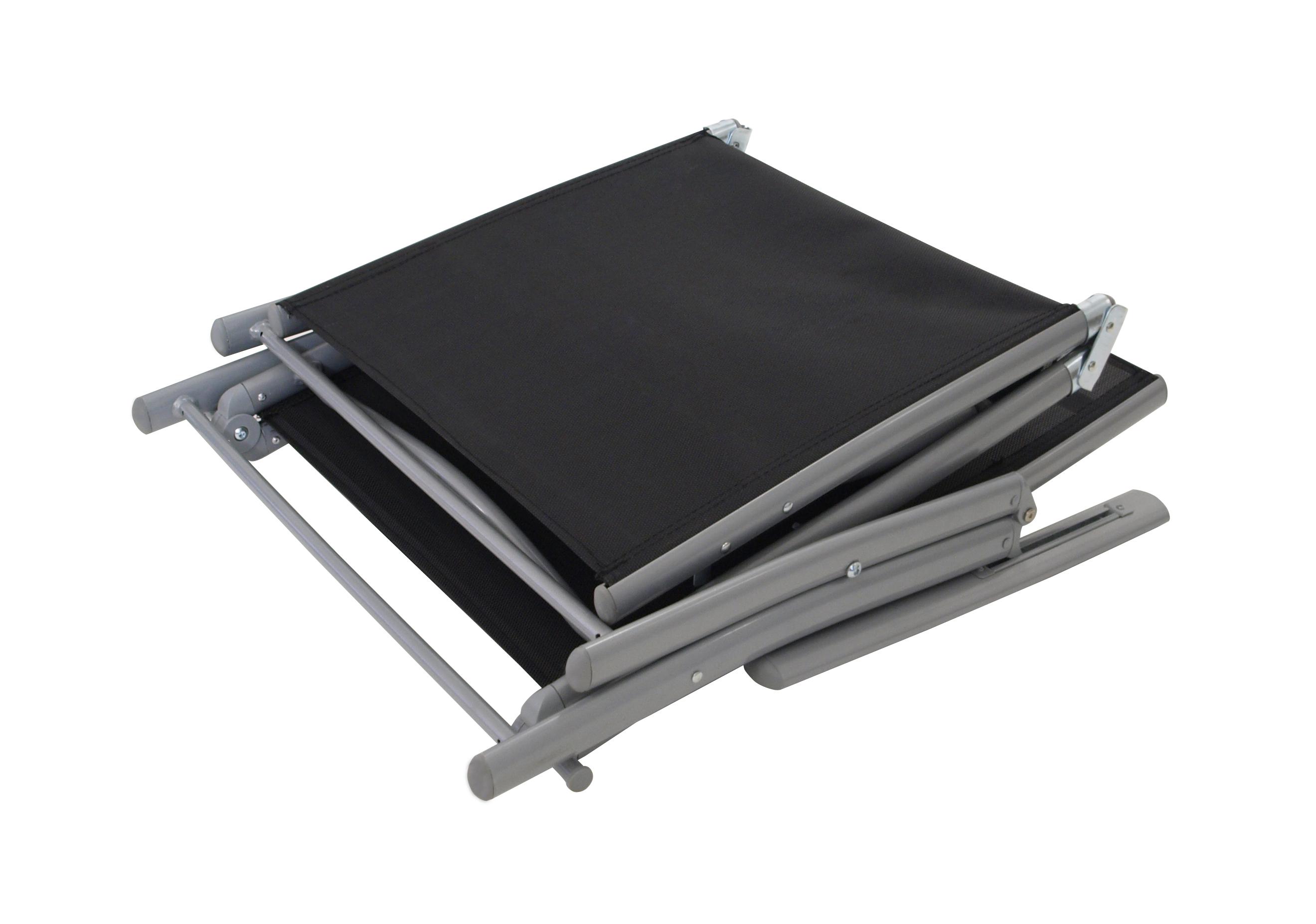 Klappliege ACAPULCO, Stahl / Aluminium + Kunstgewebe schwarz, klappbar