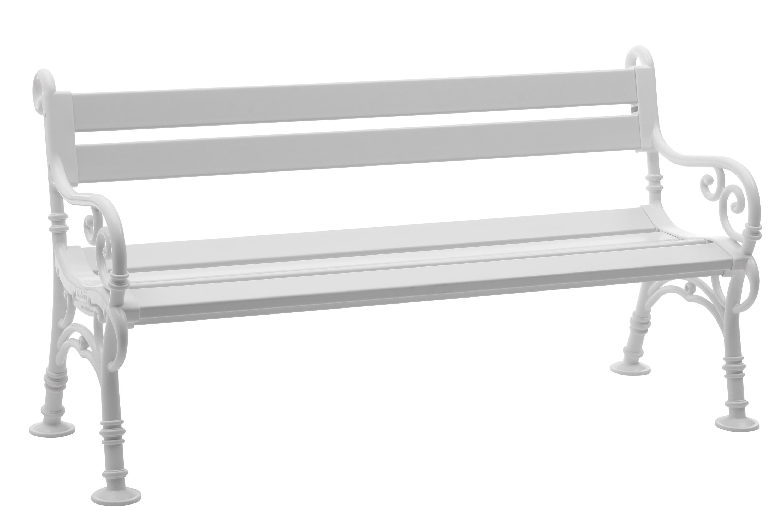 Bank LINDERHOF 3-sitzer von BLOME, Kunststoff weiss