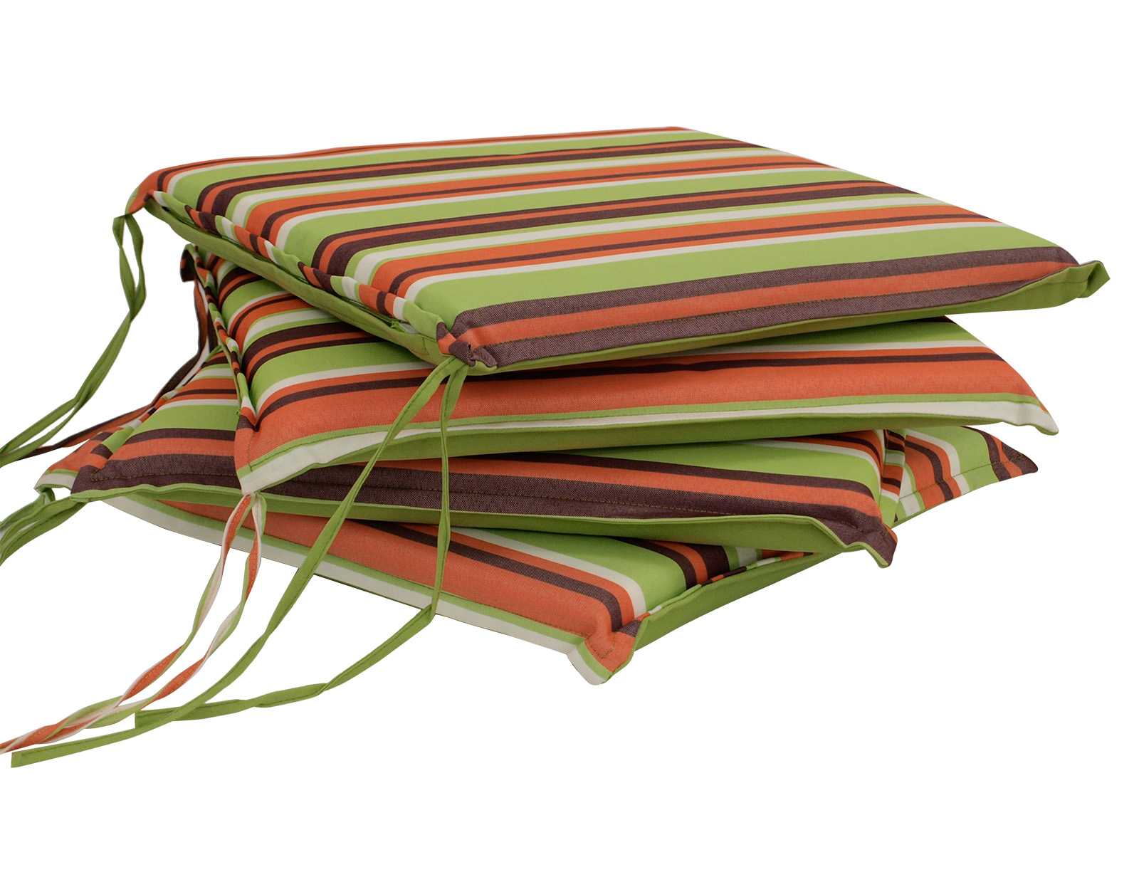 Sitzkissen MALLAWI, hellgrün gestreift, 4 Stück