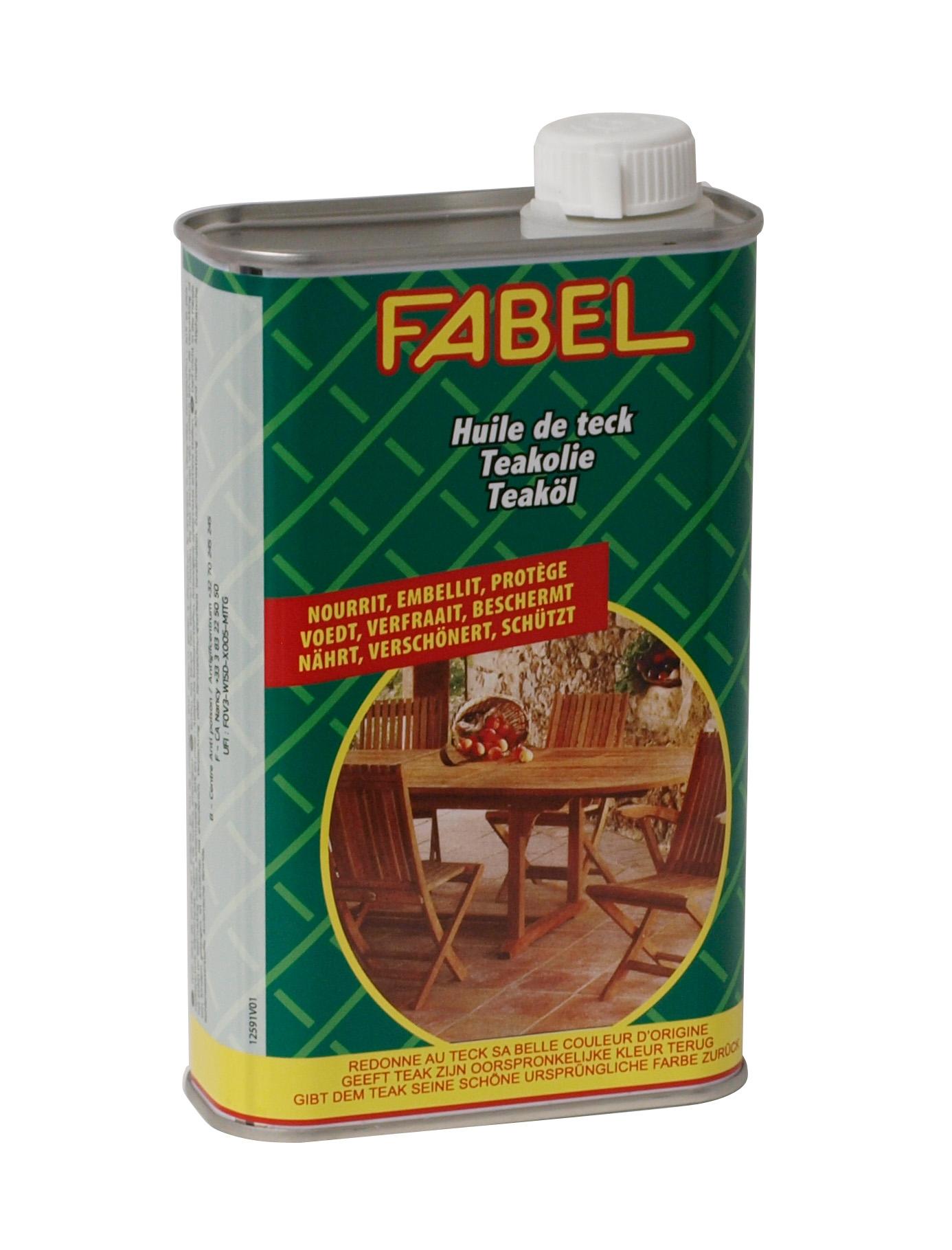 Spezial-Pflegeöl für Gartenmöbel aus Teakholz von FABEL, 500ml