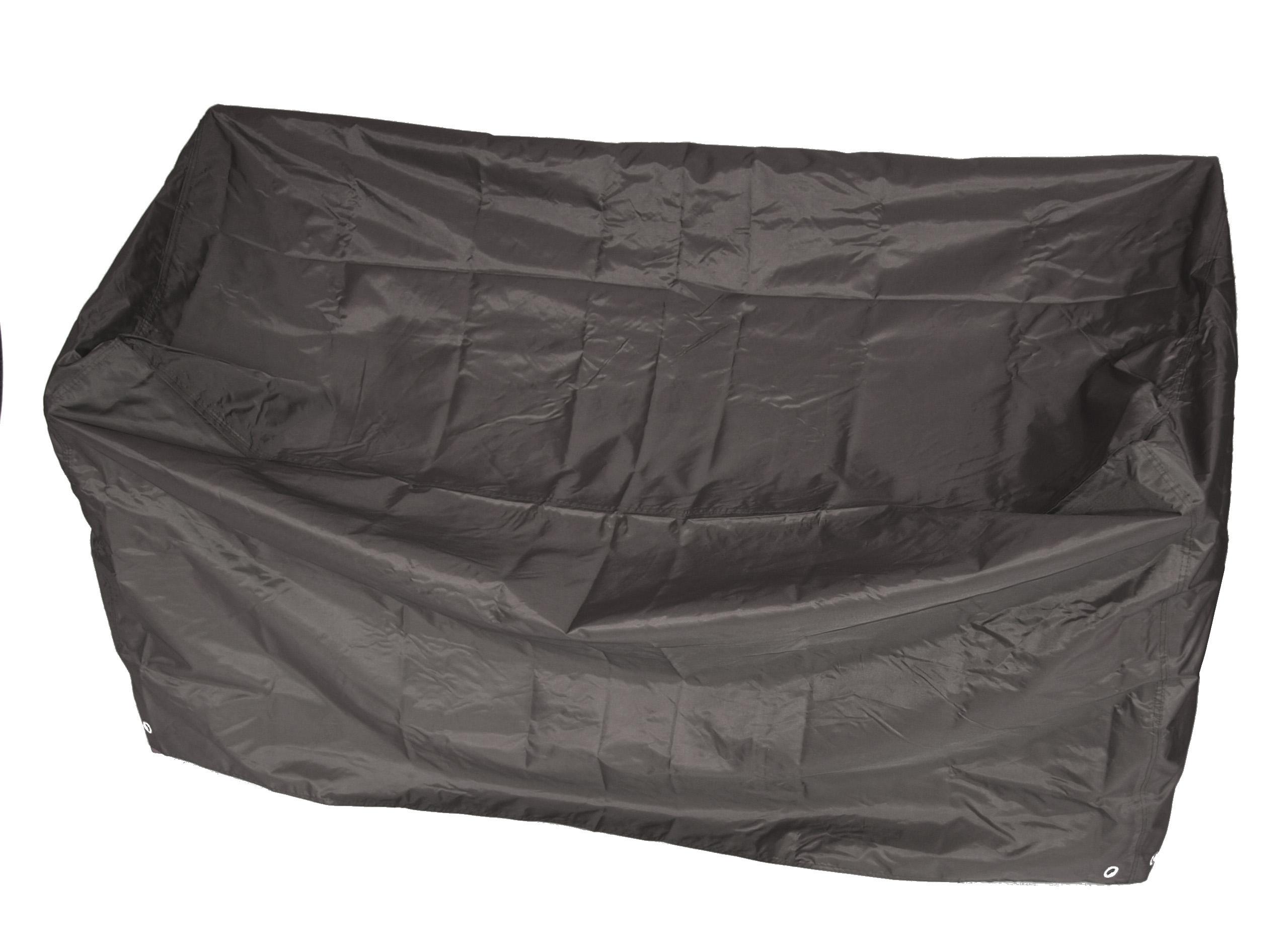 Abdeckhaube Bank 2-sitzer 134cm, Polyester PE-beschichtet grau