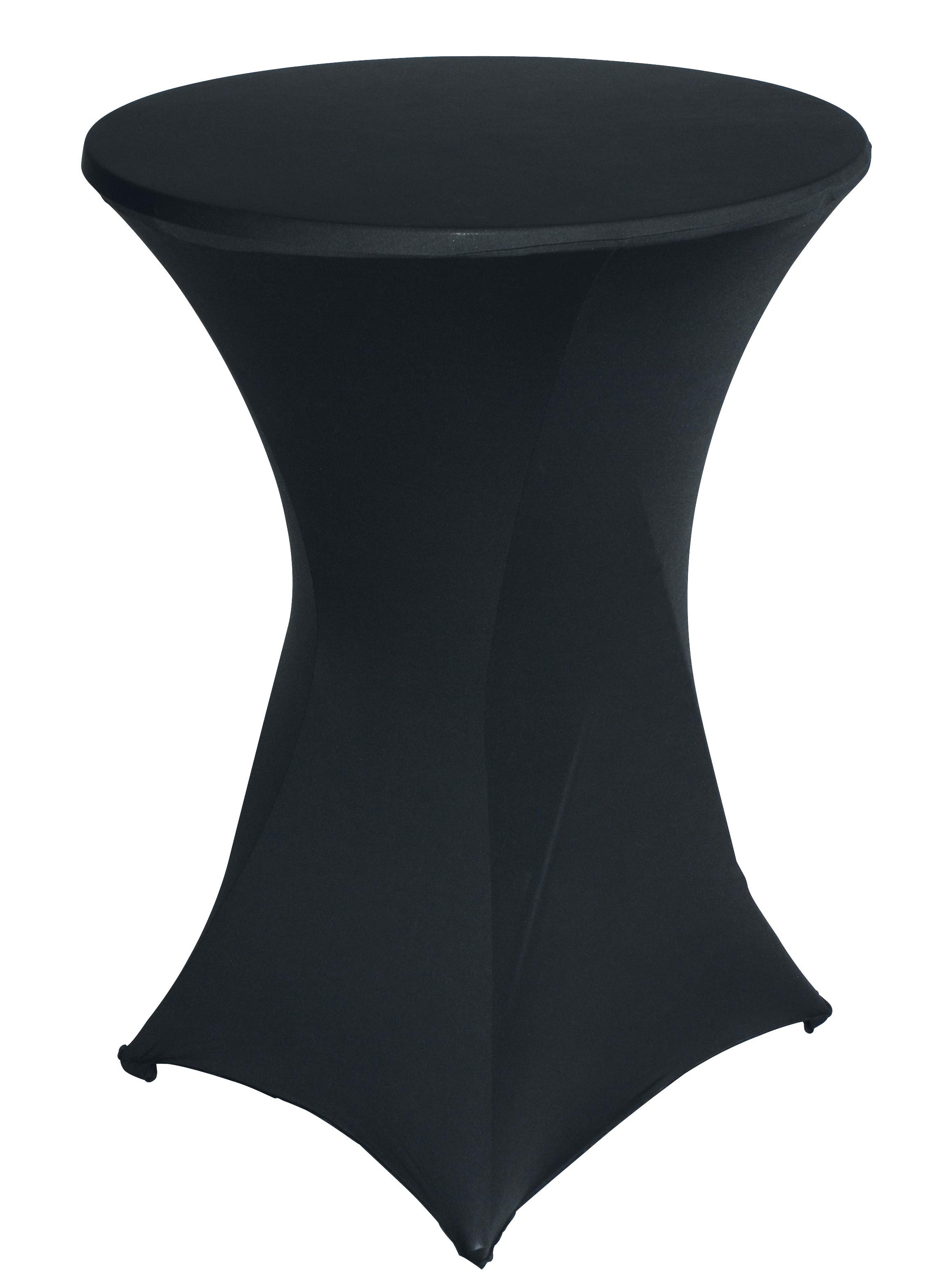 Stretchhussen BASIC für Stehtisch bis 80cm, schwarz