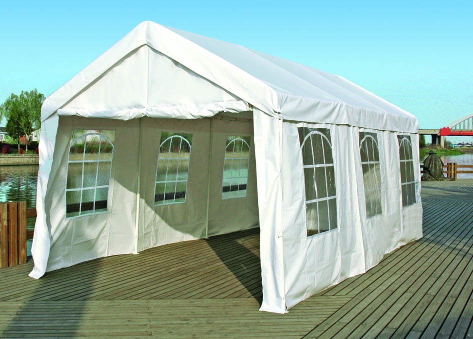 Party - Zelt PALMA 3x6 Meter, PE weiss