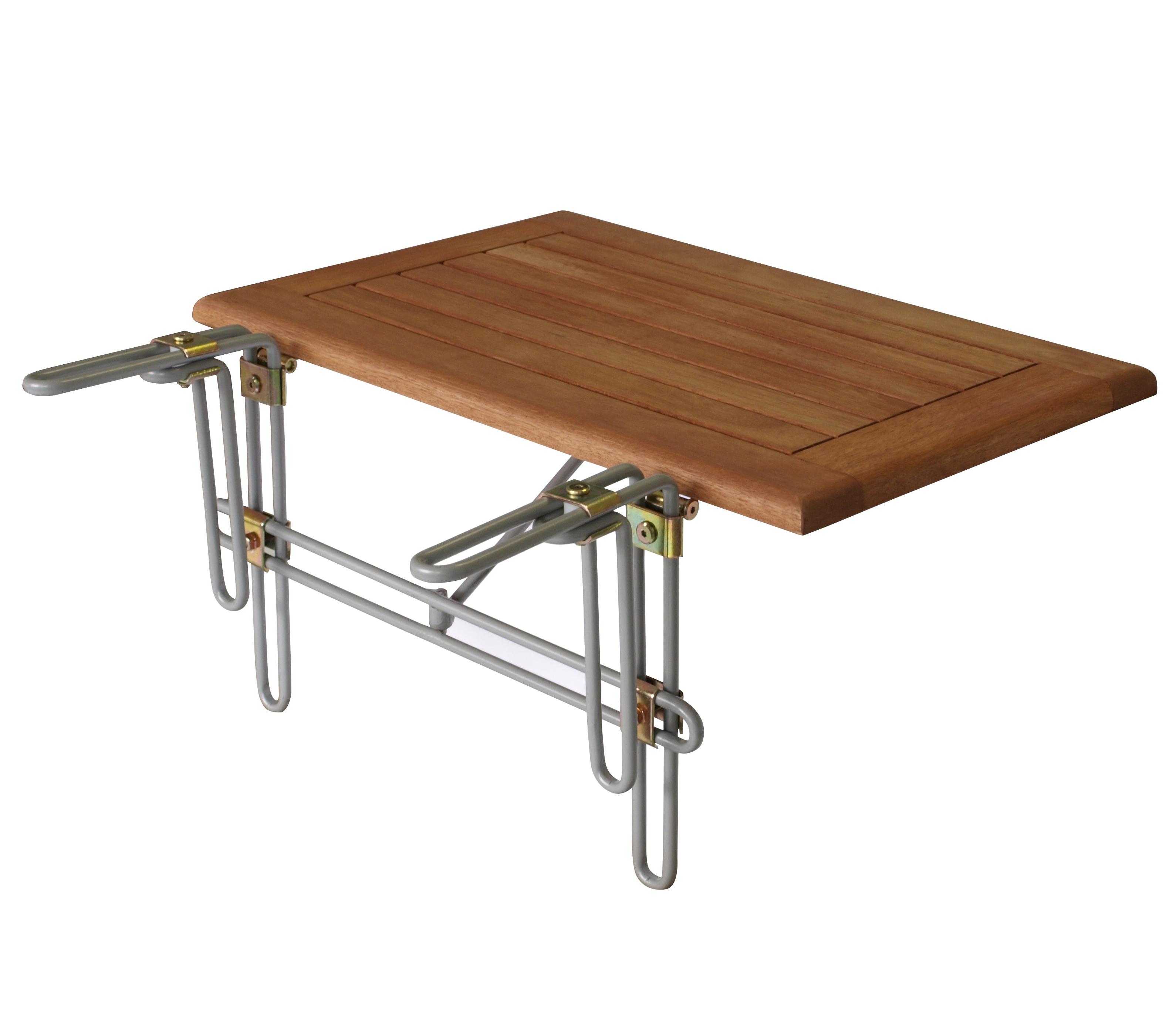 Balkonhängetisch 60x40cm, Eukalyptusplatte geölt, FSC®-zertifiziert