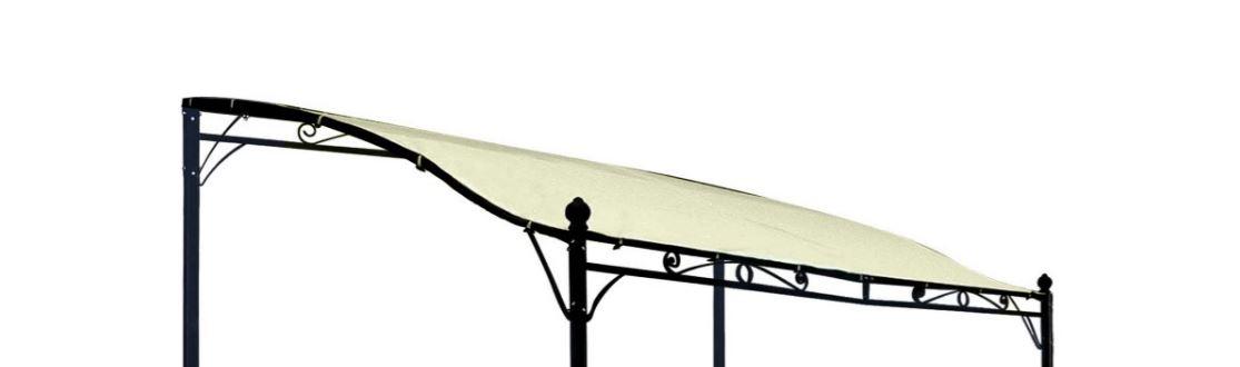 Ersatzdach für Anbaupavillon MANTOVA XL 3x3 Meter, PVC-beschichtet ecru