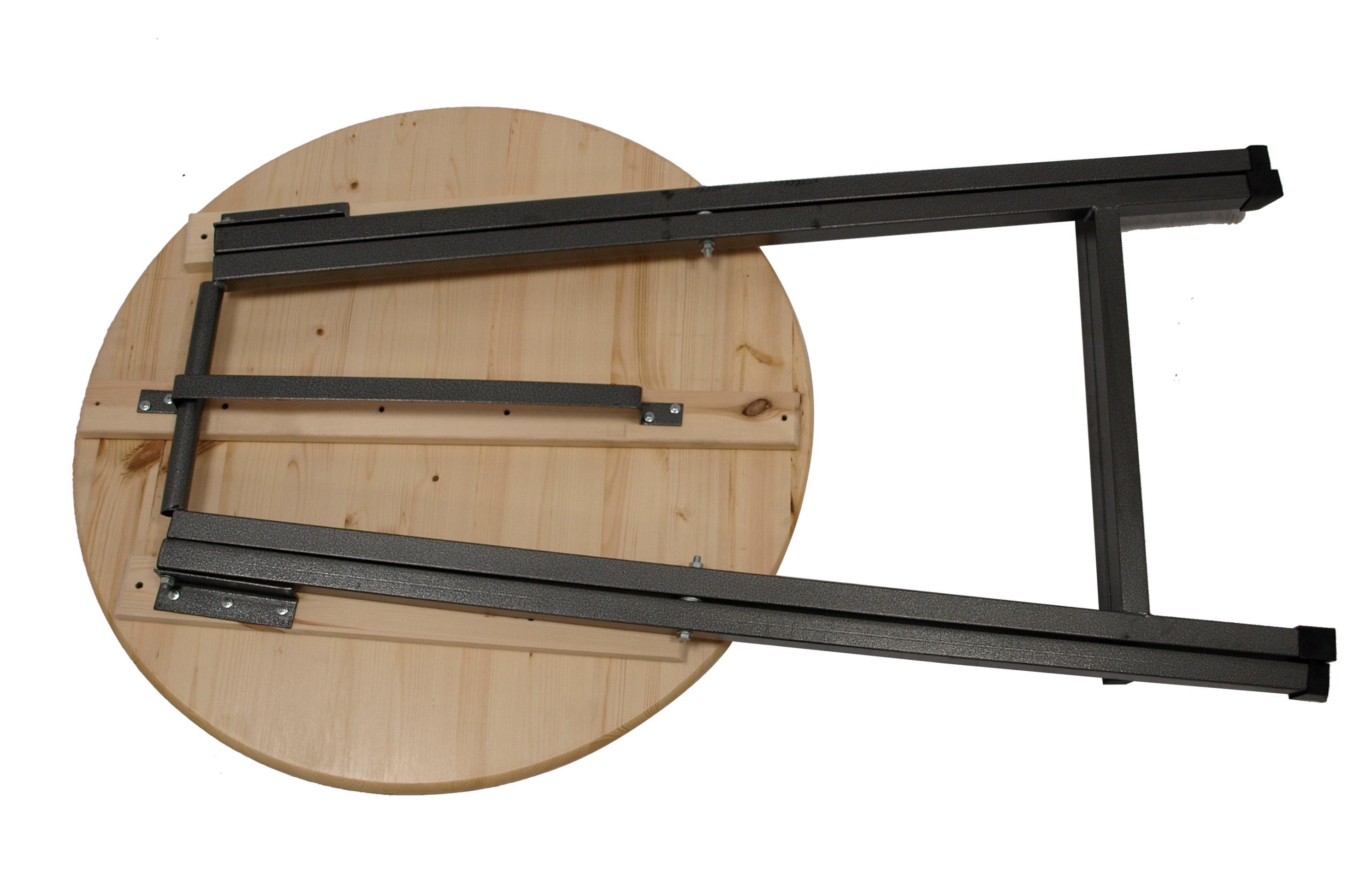 Stehtisch ZÜRICH 78cm klappbar, Metall + Holz lackiert