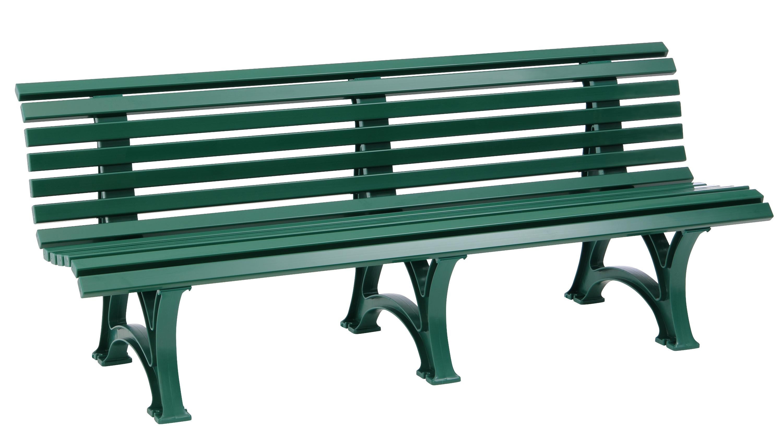 Bank BORKUM 4-sitzer, Kunststoff grün