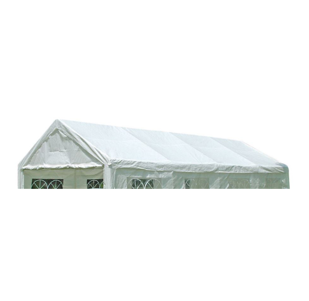 Dachplane PALMA für Zelt 4x8 Meter, PE weiss incl. Spanngummis
