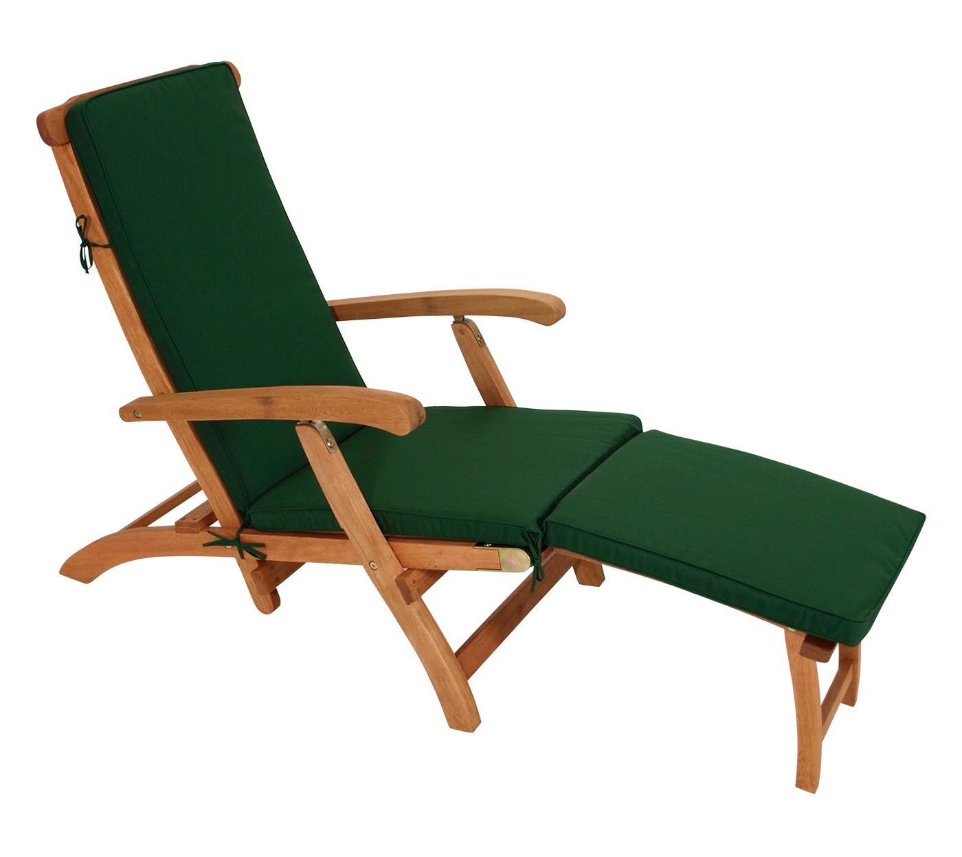 Auflage DENVER für Deckchair, dunkelgrün