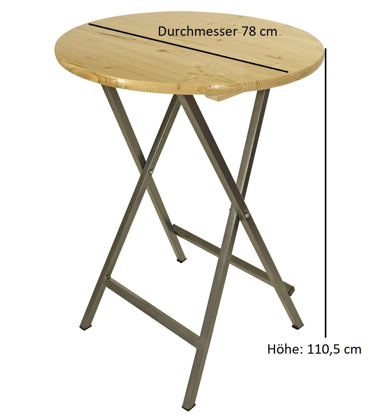 Barset BODEGA 6-teilig mit Stehtisch 78cm rund klappbar und Husse