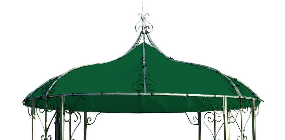 Ersatzdach für Pavillon BURMA, Polyester PVC-beschichtet dunkelgrün