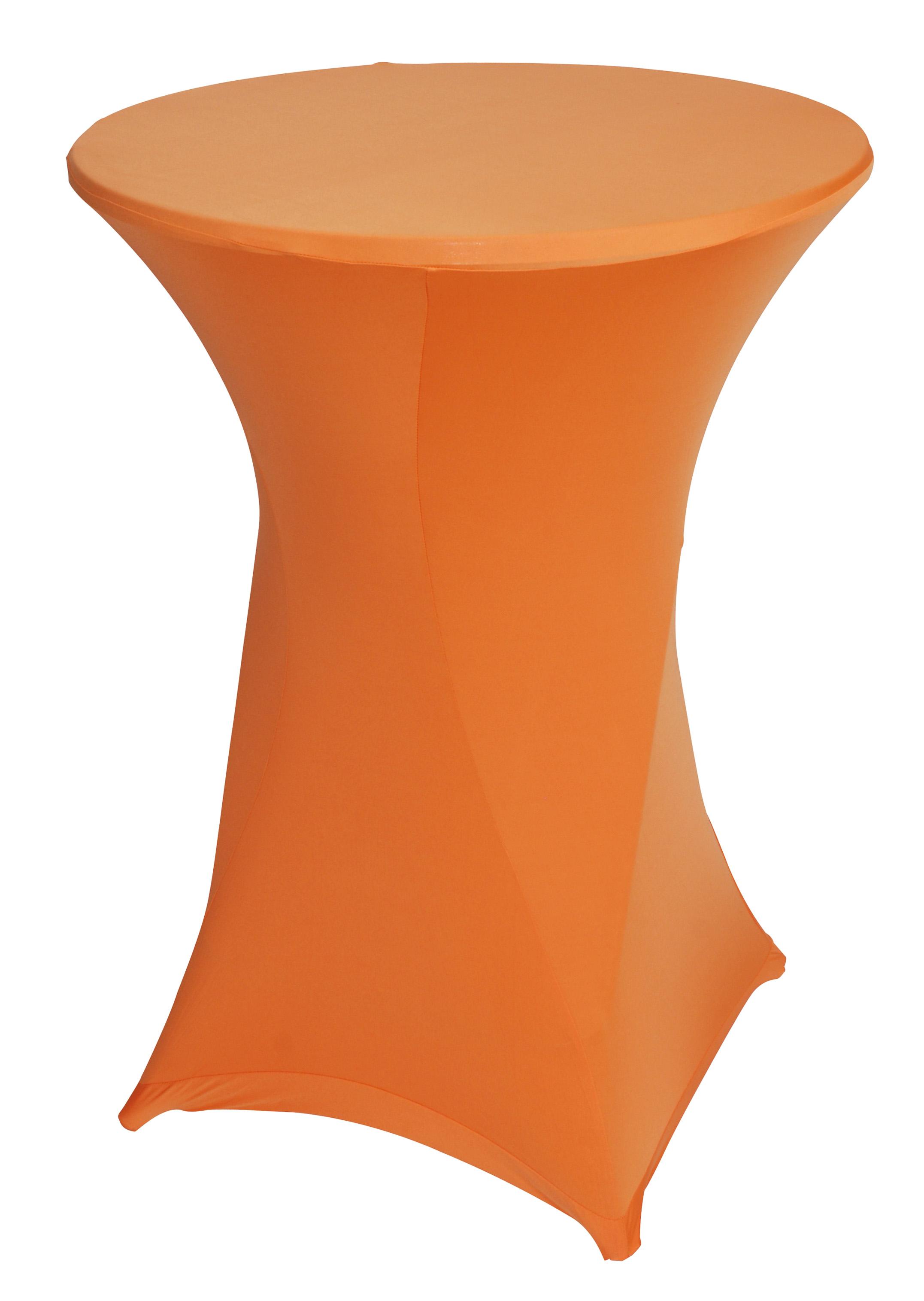 Stretchhussen BASIC für Stehtisch bis 80cm, orange