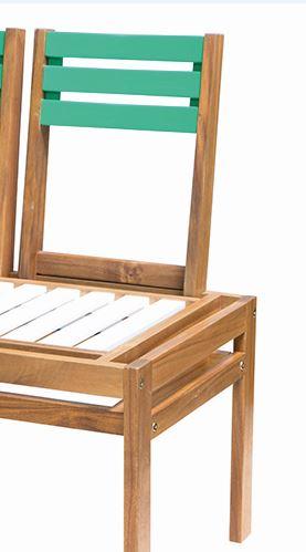 Rückenlehne für Bank / Hocker MODULAR, Akazie grün