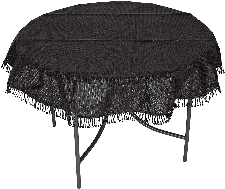 Tischdecke aus Kunststoff 160cm rund, anthrazit, wetterfest