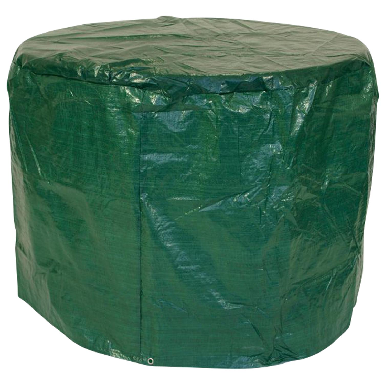 Abdeckhaube Tisch 125x70cm rund, PE dunkelgrün