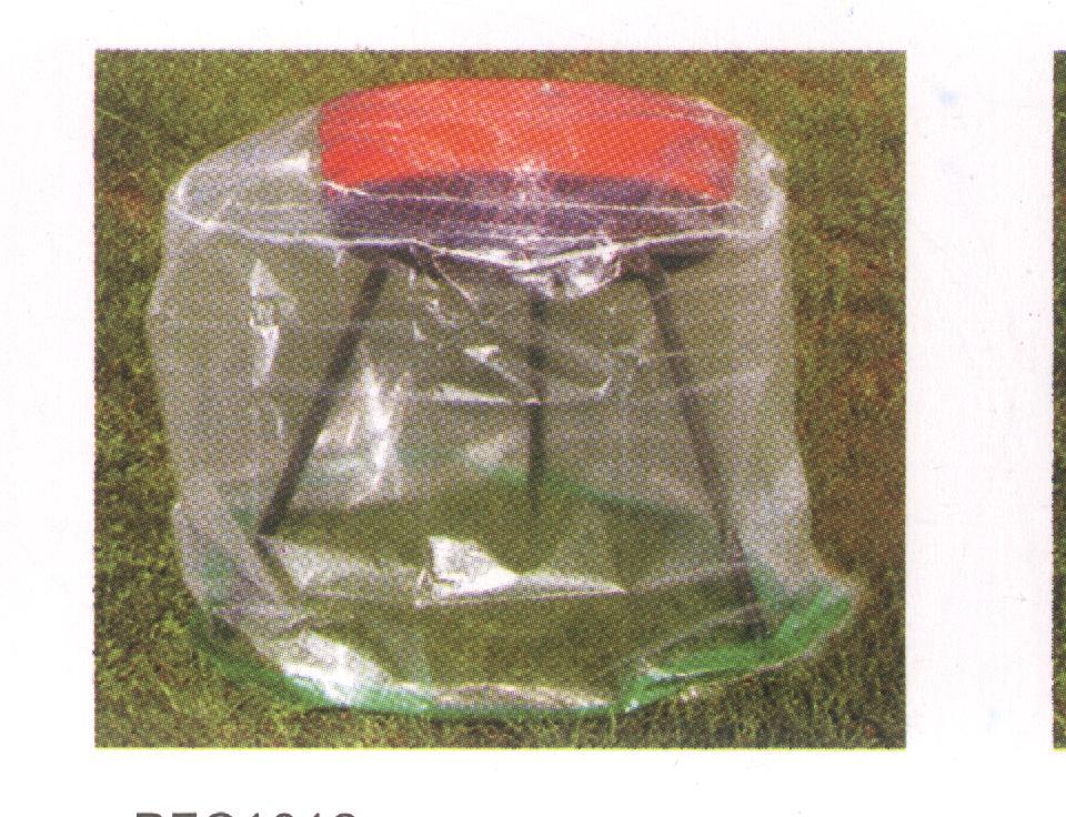 Abdeckhaube Tisch 70x70cm rund, PE transparent