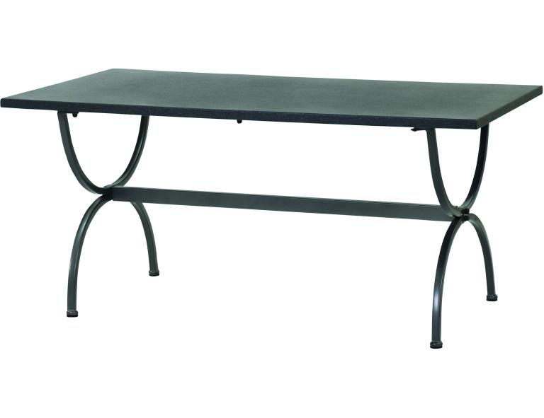 Tisch Universal 160x90cm von MBM, Gestell eisen graphitgrau, Platte Superstone g