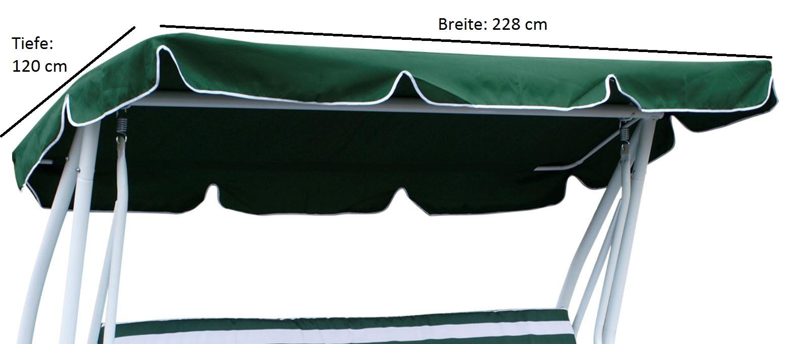 Dachplane für Hollywoodschauk MIAMI 228x120cm, dunkelgrün
