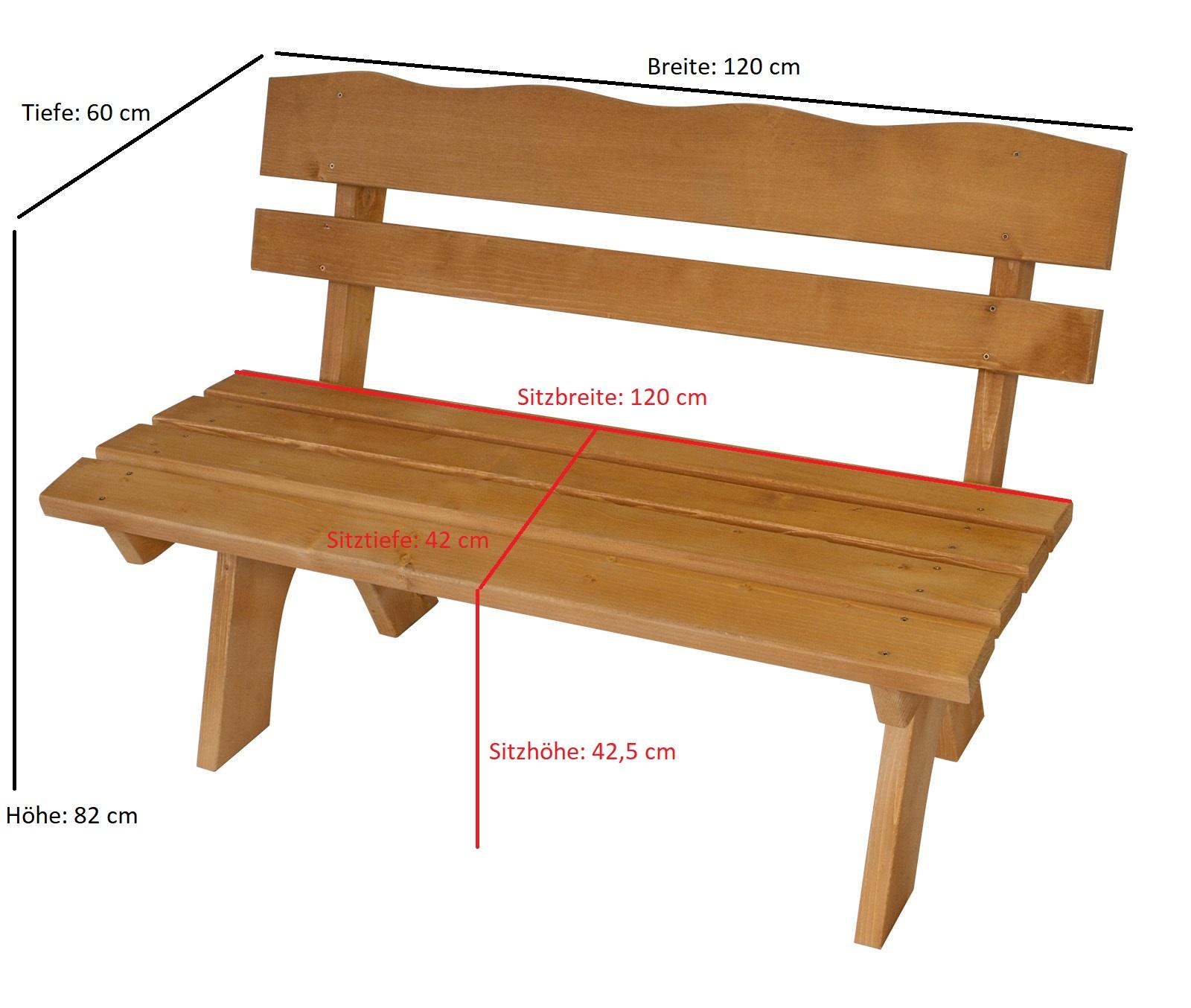 Garnitur FREITAL 3-teilig 120cm, Kiefer imprägniert