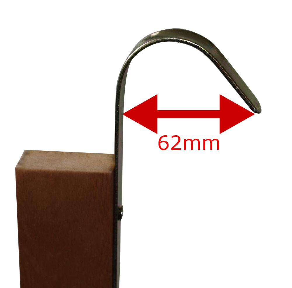 Balkonhängetisch 60x40cm, Akazienholz geölt, FSC®-zertifiziert