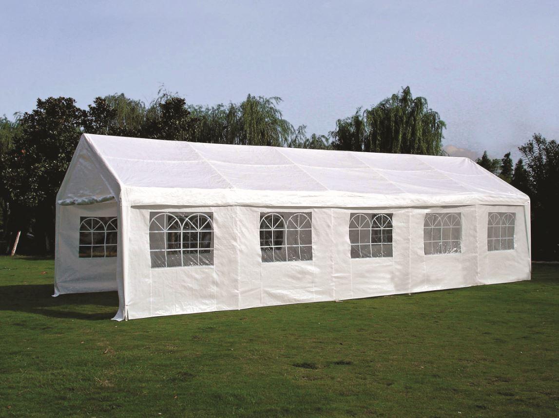 Party - Zelt PALMA 4x10 Meter, PE weiss