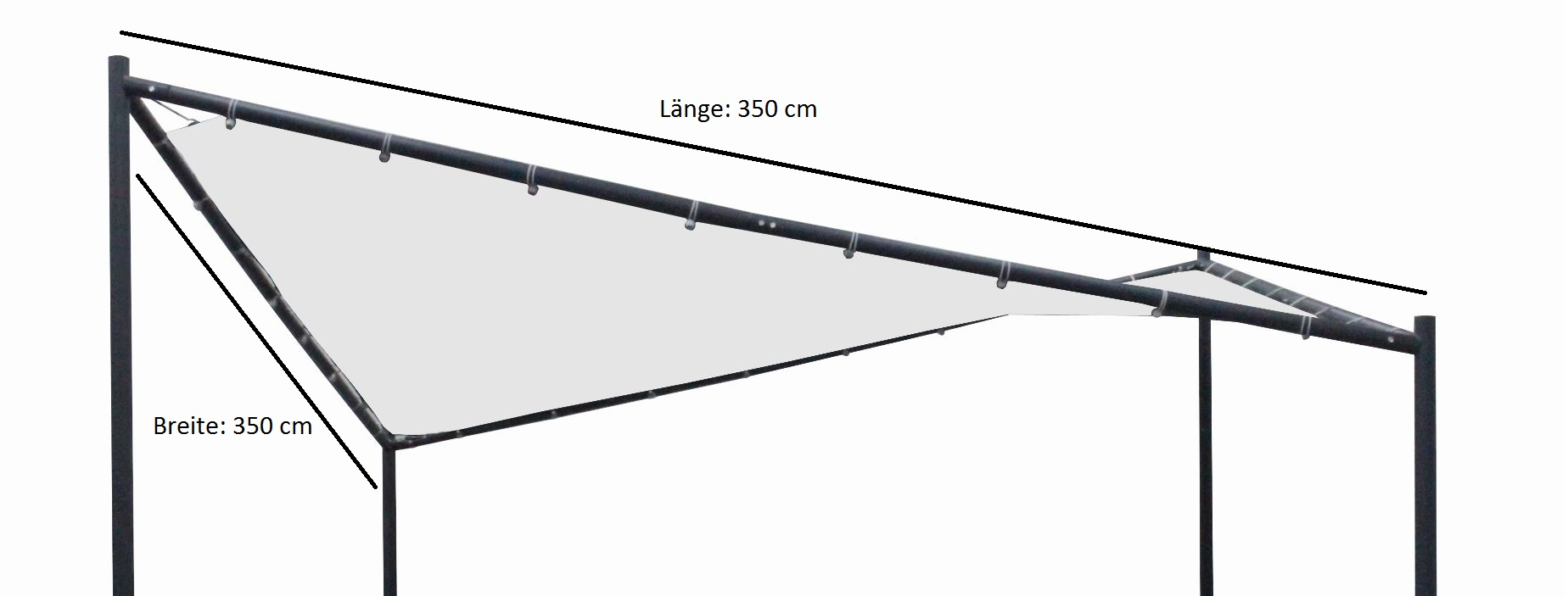 Ersatzdach für Walmdachpavillon ORLANDO 4-eckig, PVC beschichtet weiss