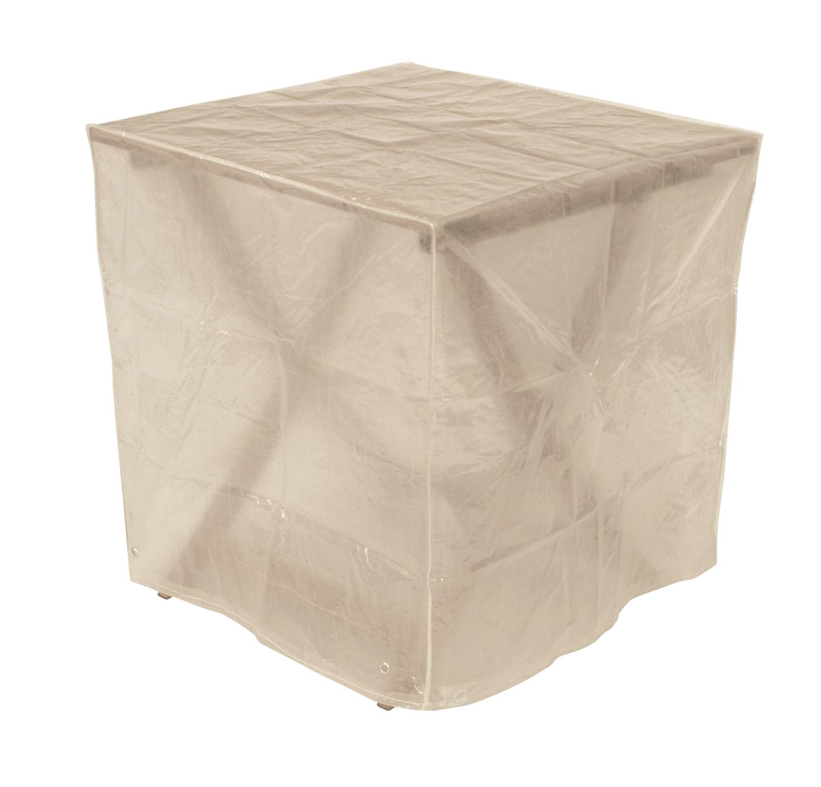 Abdeckhaube Tisch 70x70x70cm eckig, PE transparent