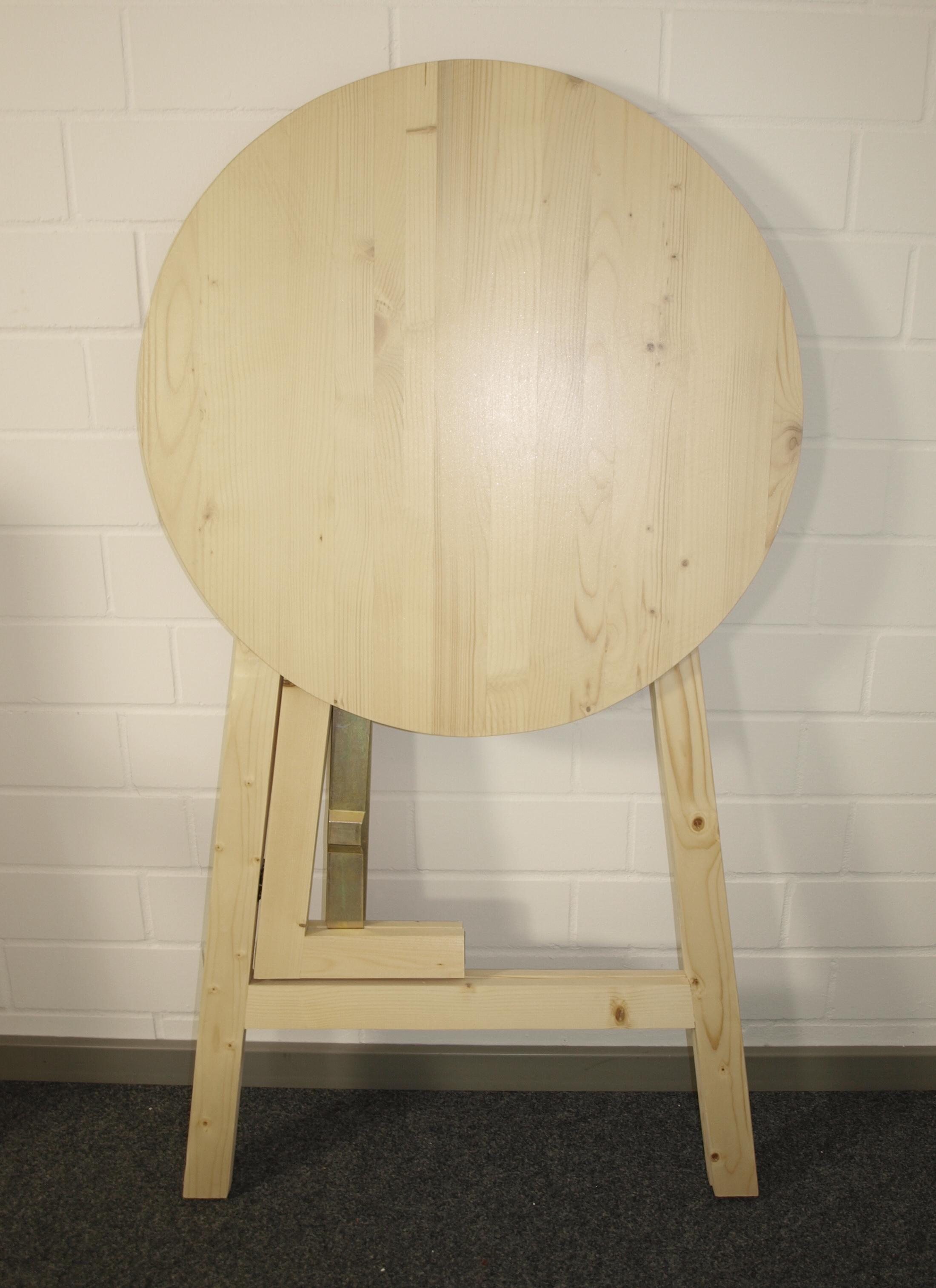 Stehtisch GARMISCH klappbar 78cm rund, Massivholz