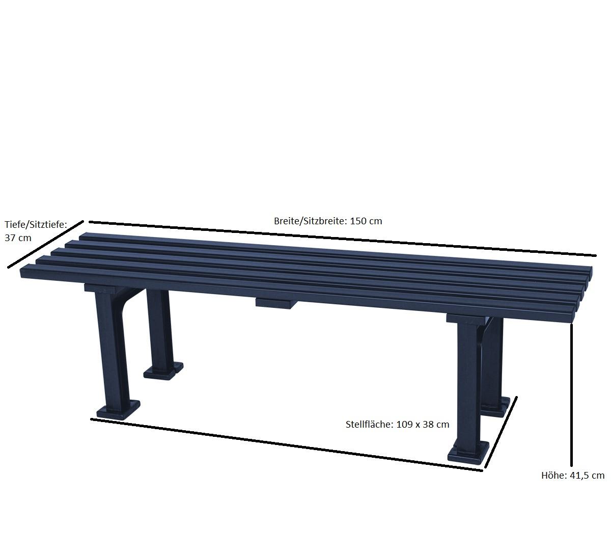 Hockerbank MONO 3-sitzer von BLOME, Kunststoff blau