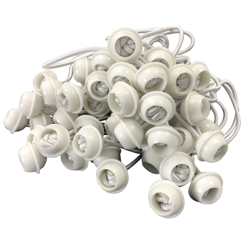 Spanngummi mit Kugel für Zeltplanen, 50 Stück