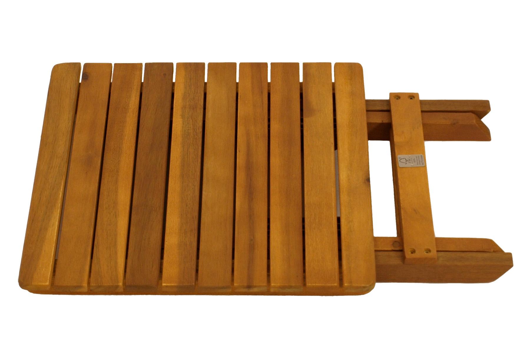 Klapp - Beistelltisch MARA 38x38cm, Akazie geölt, FSC®-zertifiziert