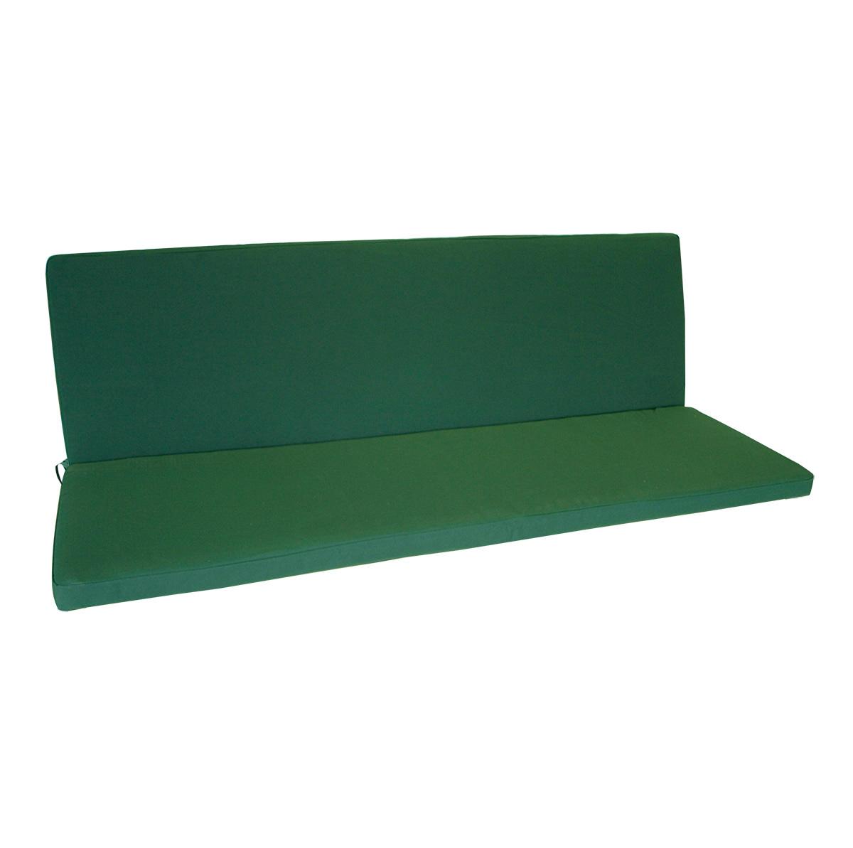 Auflage DENVER für Bank 3-sitzer, dunkelgrün